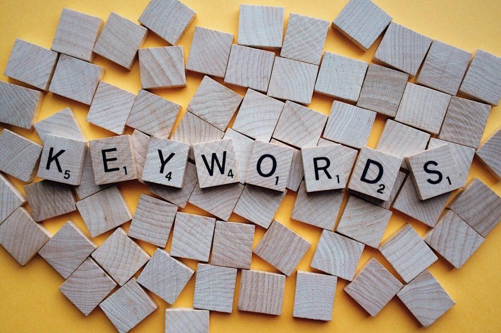 keywords finden, website