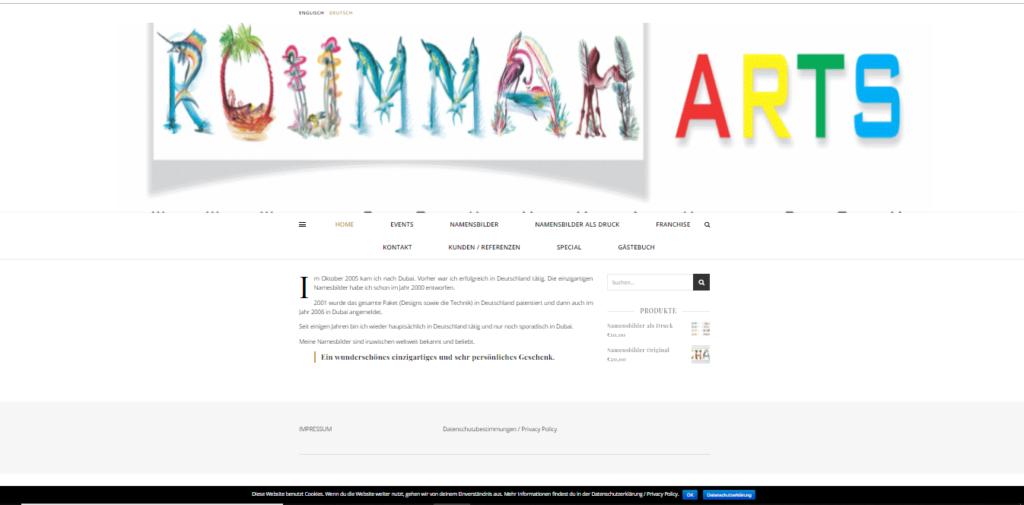 roummah.com webdesign