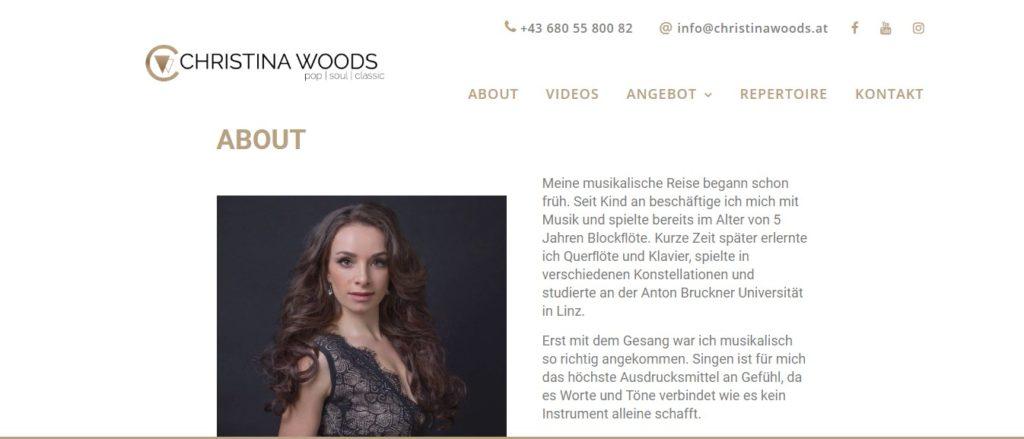 webdesign christina woods - website erstellen nach Ihren Wünschen